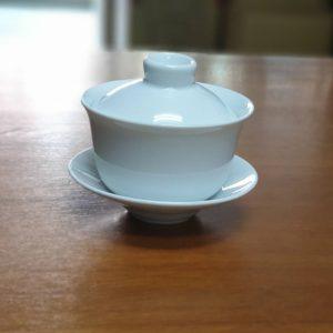 白玉3件式 小蓋杯