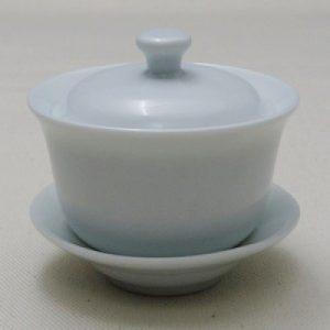 生釉三件式小蓋杯