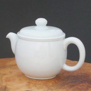 寬口白瓷造型壺