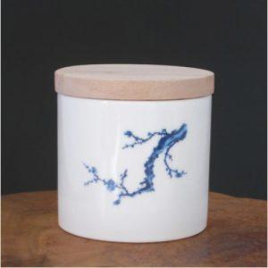 木蓋白瓷青梅茶倉