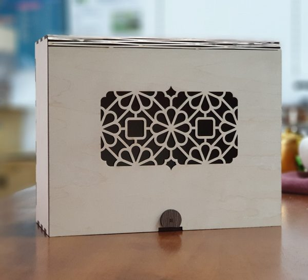 雙錢紋客製木質茶葉禮盒